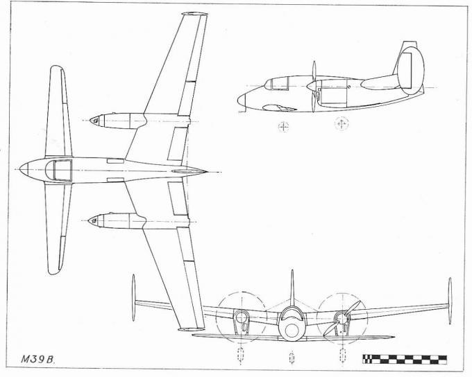 Экспериментальный самолет miles m.39b libellula. великобритания