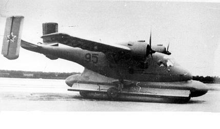 Экспериментальный самолет на воздушной подушке ан-14ш.