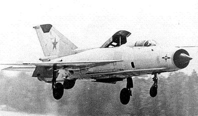 Экспериментальный самолет с увп миг-21пд.