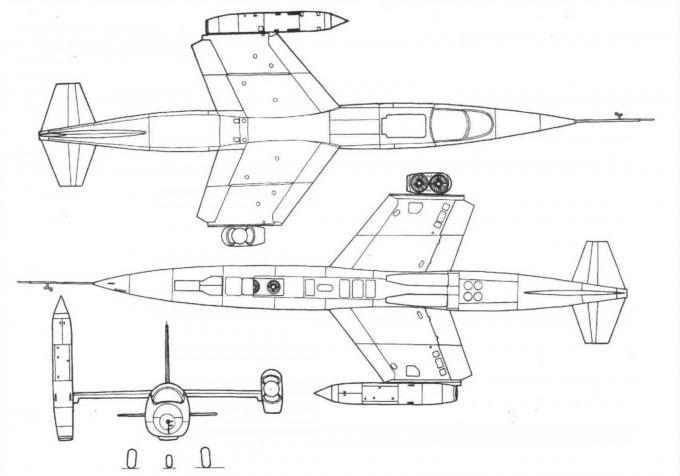 Экспериментальный самолет с ввп vj-101c. германия