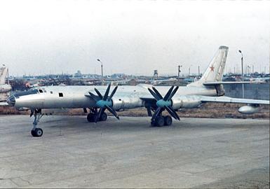 Экспериментальный самолет ту-95лал.