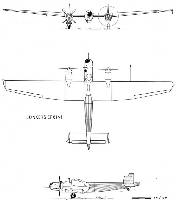 Ju49 и ef61 – самолеты, которые сделали хуго юнкерса пионером стратосферных полетов в германии часть 2