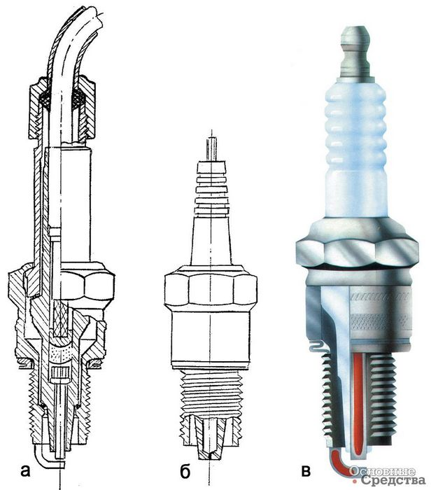 Калийная свеча типа «пистон» для микродвигателя