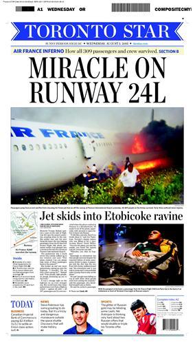 Катастрофы: чудесное спасение. air france 2005. торонто
