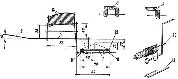 Комнатная резиномоторная модель самолета из птичьих перьев «птицелет»