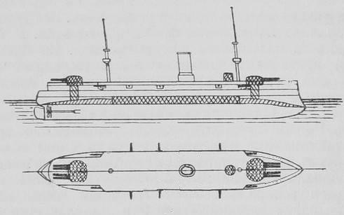 Корабли были 4-х орудийны. оставшиеся на бумаге.