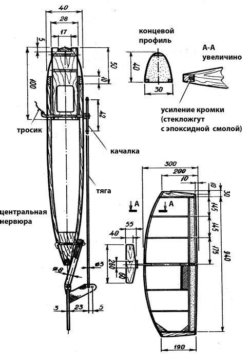 Кордовая бойцовая модель самолета класса f2d