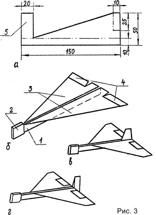 Кордовая модель самолета для начинающих «перехватчик»