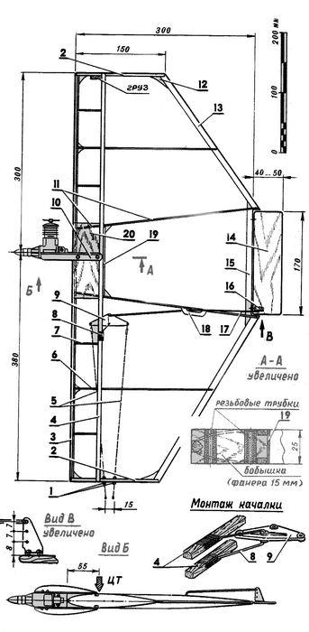 Кордовая модель самолета для воздушного боя класса f2b