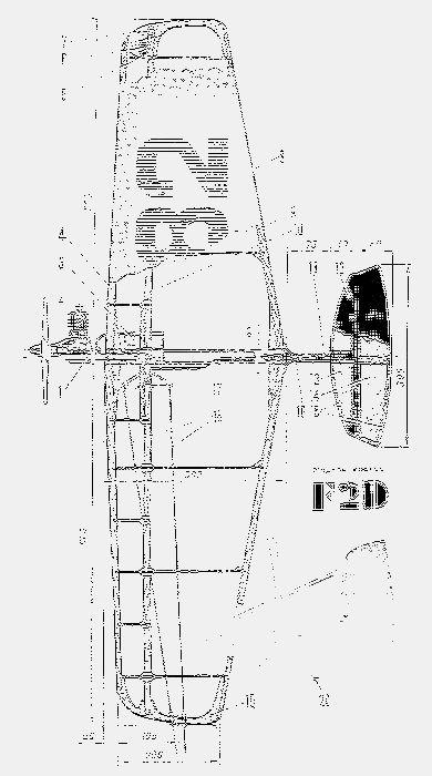 Кордовая модель самолета для воздушного боя