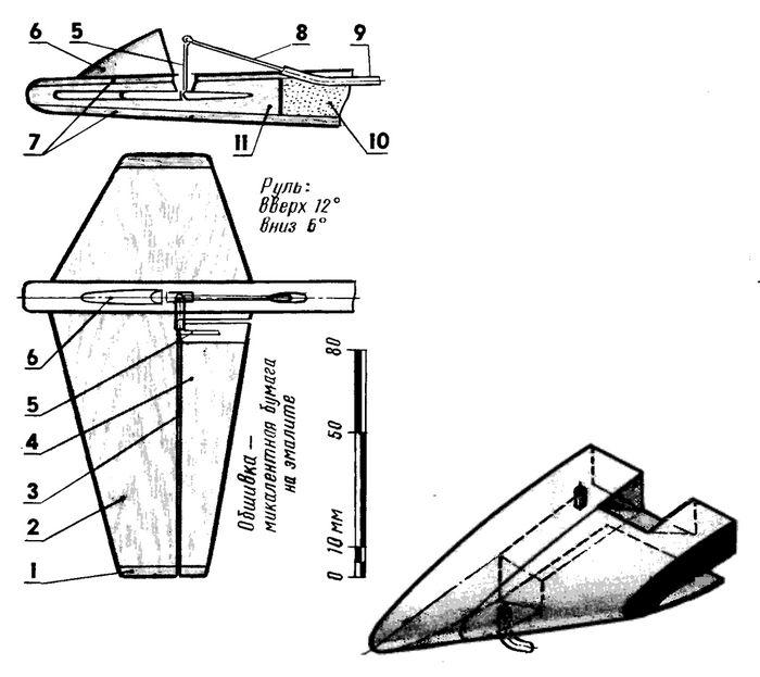 Кордовая скоростная модель самолета «утка»
