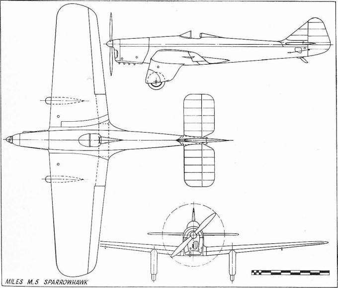 Легкие гоночные и экспериментальные самолеты miles m.5 sparrowhawk. великобритания