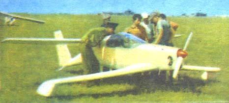 Легкий экспериментальный самолет а-8.