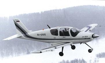 Легкий многоцелевой самолет ил-103.