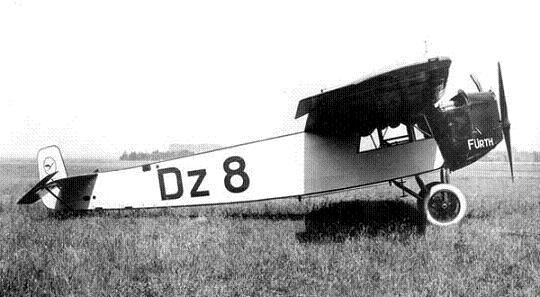 Легкий пассажирский самолет fokker f.iii.
