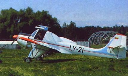 Легкий самолет «аушра» (заря).