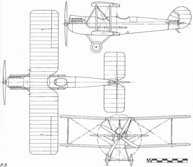 Легкий самолет boulton-paul p.9. великобритания