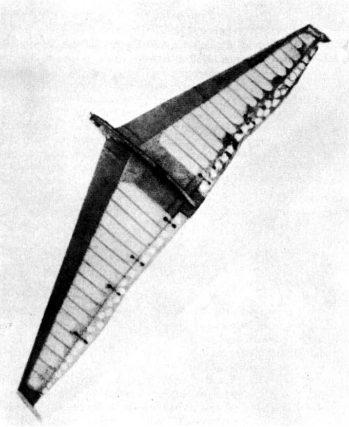 «Летающий треугольник». экспериментальный самолет delta i. германия