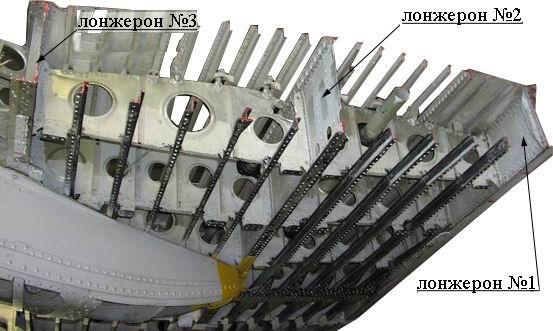 Лонжерон крыла самолета