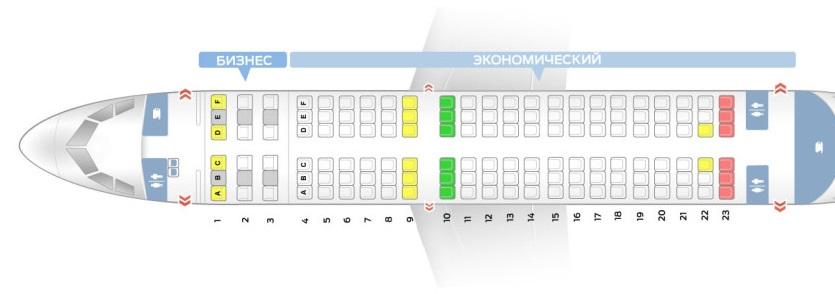 Лучшие места и схема салона самолета airbus a319 - аэрофлот