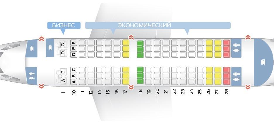 Лучшие места и схема салона самолета boeing 737-500 - трансаэро