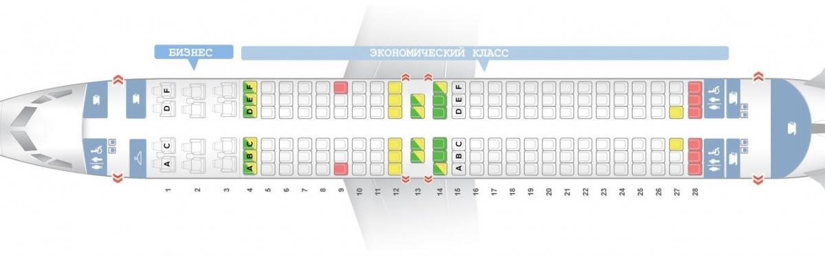 Лучшие места и схема салона самолета boeing 737-800 - s7 airlines