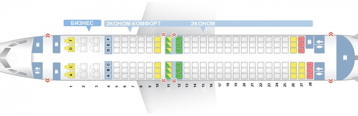 Лучшие места и схема салона самолета boeing 737-800 - utair