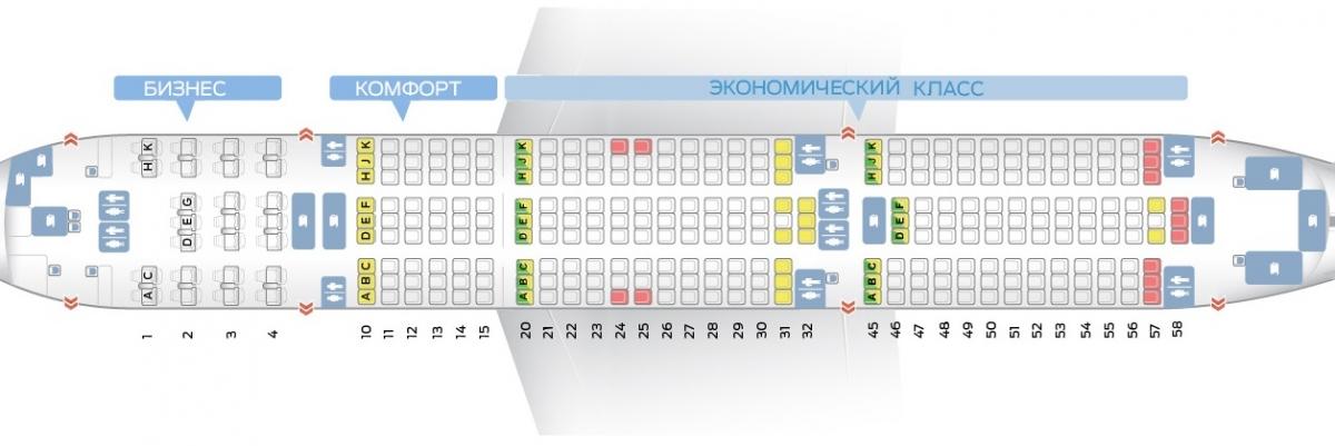 Лучшие места и схема салона самолета boeing 777-200er - вьетнамские авиалинии