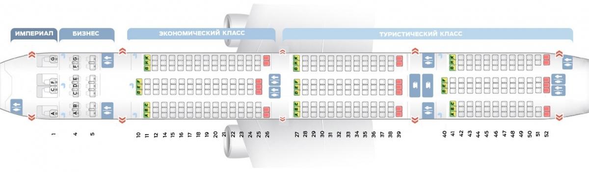Лучшие места и схема салона самолета boeing 777-300 - трансаэро