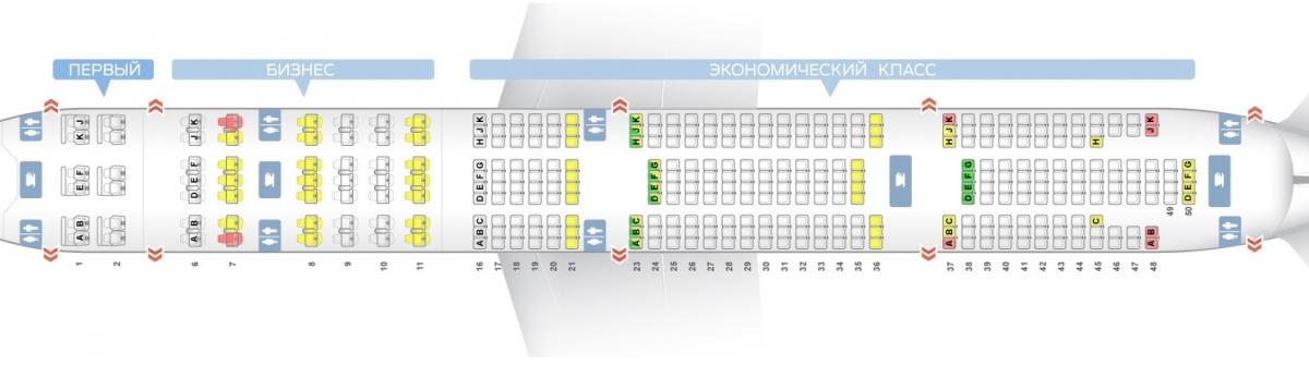 Лучшие места и схема салона самолета boeing 777-300er - аэрофлот