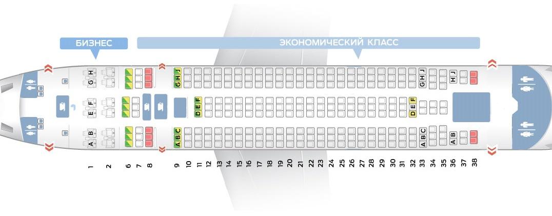 Лучшие места и схема салона самолета il 96-300 — аэрофлот