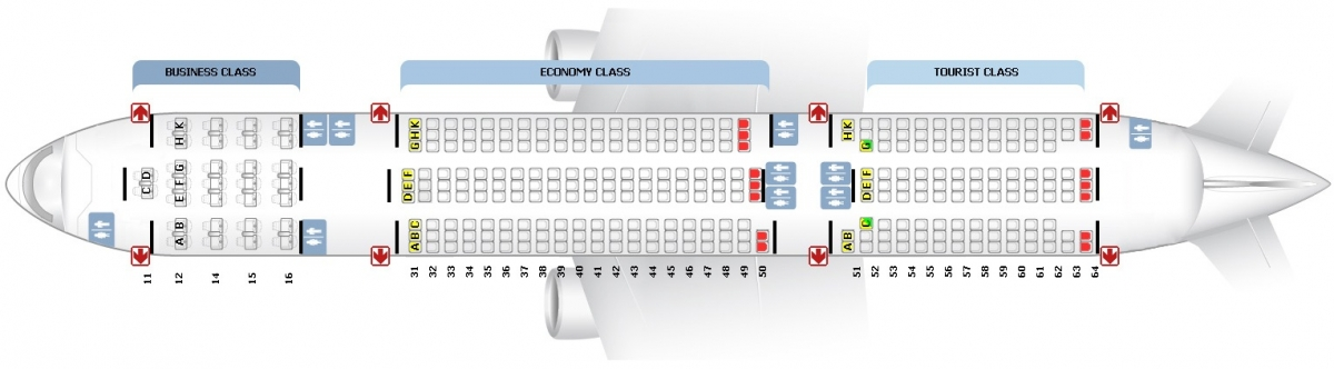 Лучшие места и схема салона трехклассного самолета boeing 777-200 - трансаэро