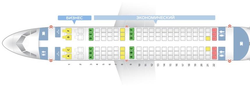 Лучшие места салона самолета a319-100 - jat airways