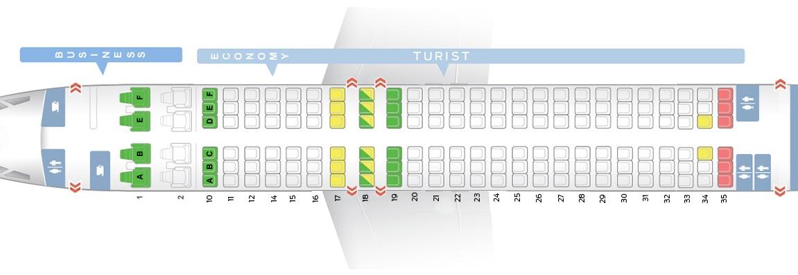 Лучшие места салона самолета boeing 737-800 - трансаэро
