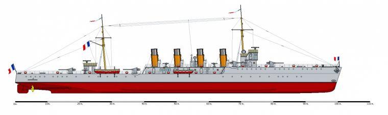 Маленький французский крейсер