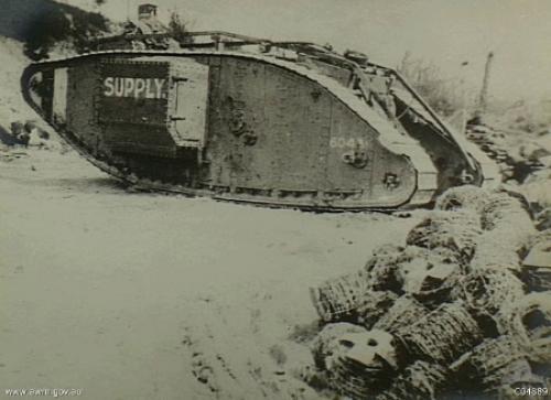 Машины на танковом шасси первой мировой