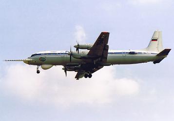 Метеорологический самолет ил-18д «циклон».