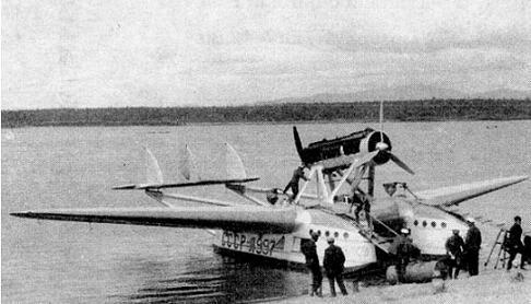 Многоцелевая летающая лодка savoia-marchetti s.55.