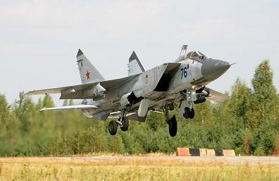 Многоцелевой истребитель миг-31бм.