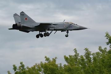 Многоцелевой истребитель-перехватчик миг-31б.