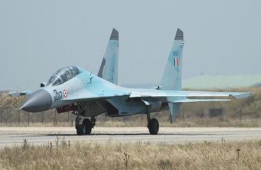 Многоцелевой истребитель су-30к.