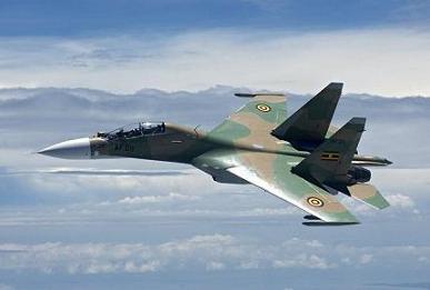 Многоцелевой истребитель су-30мк2.