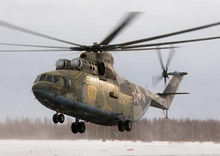Многоцелевой транспортный вертолет ми-26.