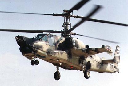 Многоцелевой ударный вертолет ка-50ш.