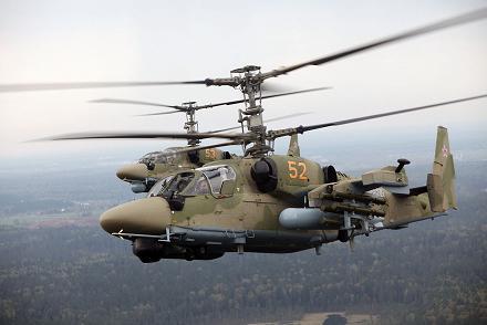 Многоцелевой ударный вертолет ка-52 «аллигатор».