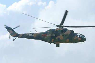Многоцелевой ударный вертолет ми-24а.