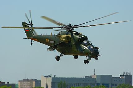 Многоцелевой ударный вертолет ми-24вм.