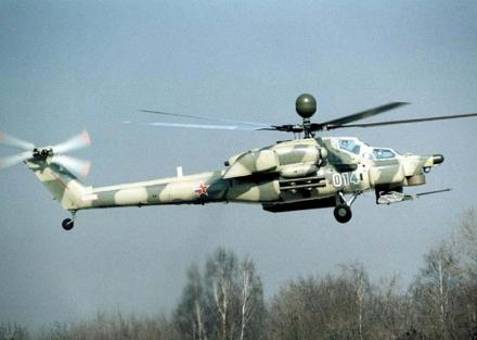 Многоцелевой ударный вертолет ми-28н.