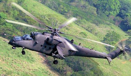 Многоцелевой ударный вертолет ми-35м.