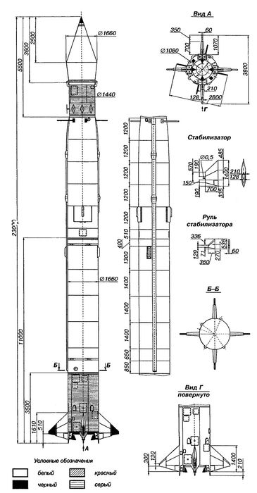 Модель исследовательской ракеты b-5b